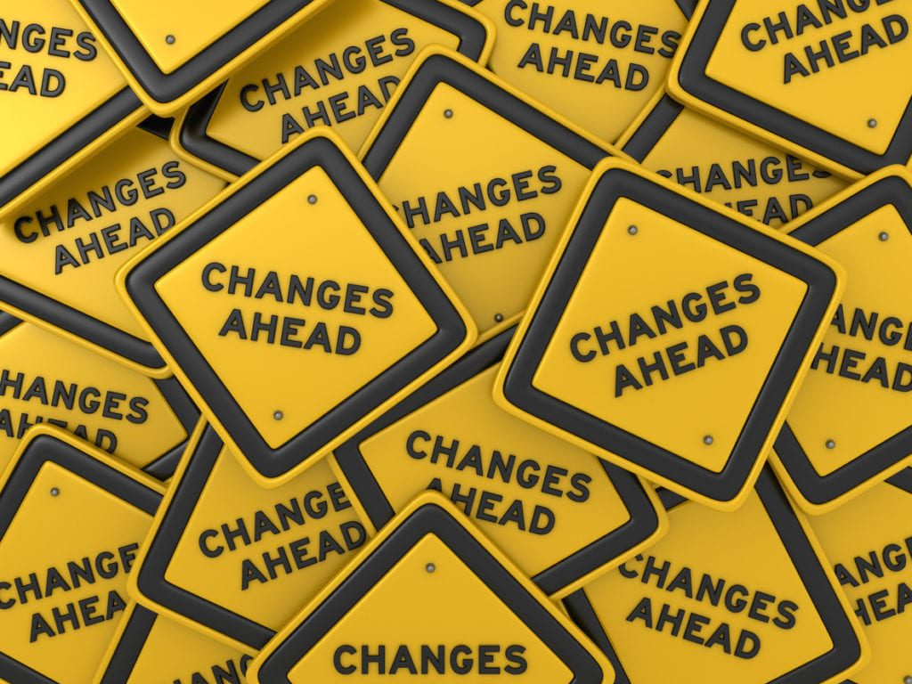 changes ahead signs