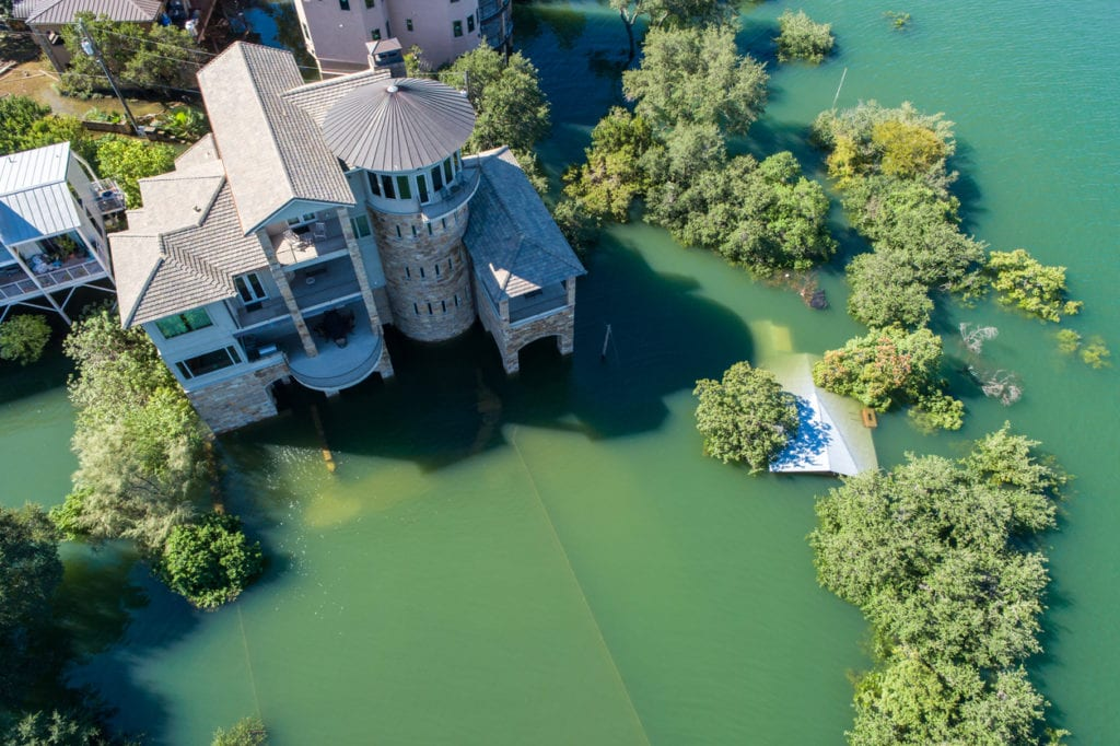 flooded mansion