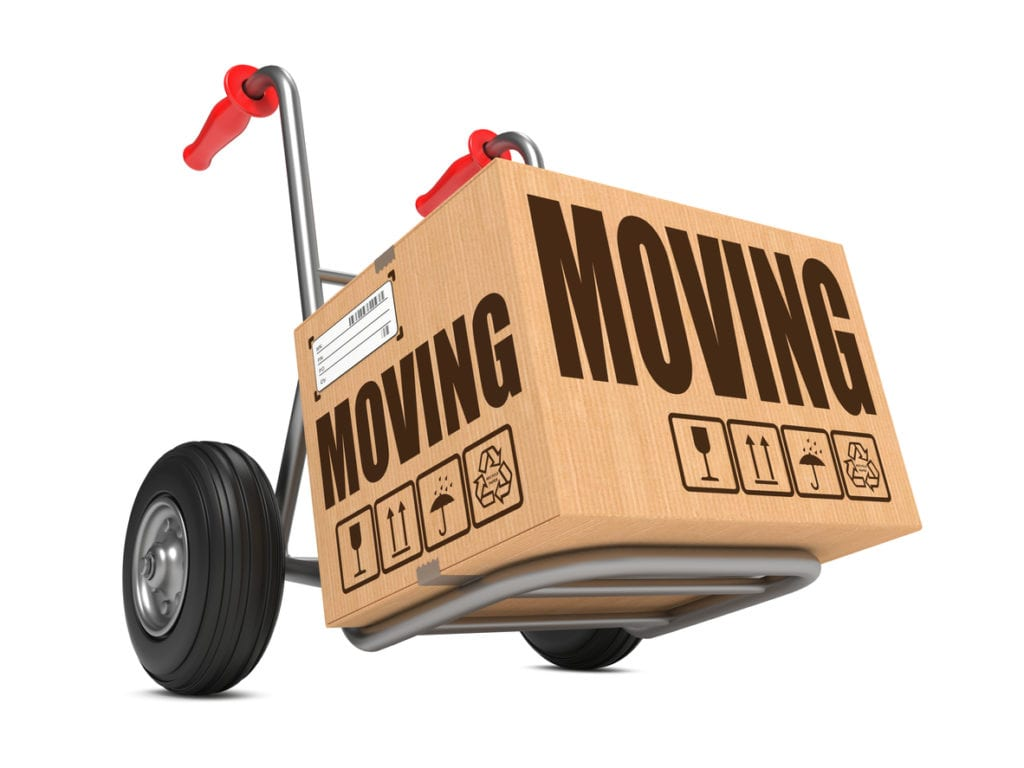 moving box on hand truck