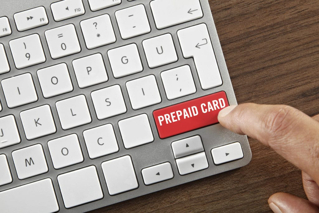 prepaid card button on keyboard
