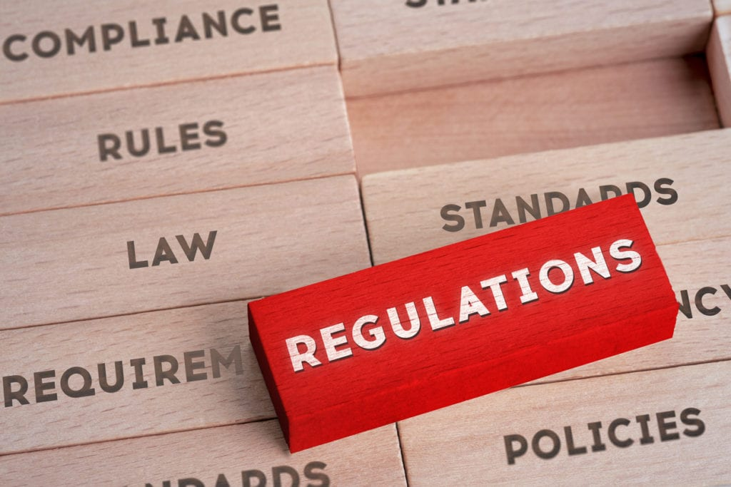 regulations block as piece of a puzzle